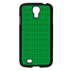 Pattern Green Background Lines Samsung Galaxy S4 I9500/ I9505 Case (black) by Nexatart