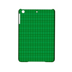 Pattern Green Background Lines Ipad Mini 2 Hardshell Cases by Nexatart