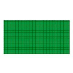 Pattern Green Background Lines Satin Shawl by Nexatart