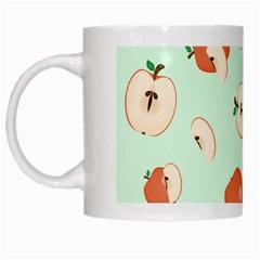 Apple Fruit Background Food White Mugs by Nexatart