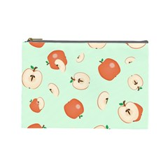 Apple Fruit Background Food Cosmetic Bag (large)