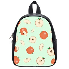 Apple Fruit Background Food School Bags (Small)