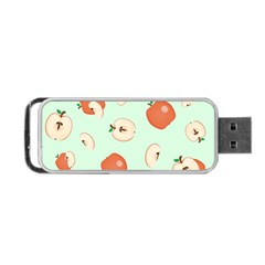 Apple Fruit Background Food Portable Usb Flash (two Sides) by Nexatart