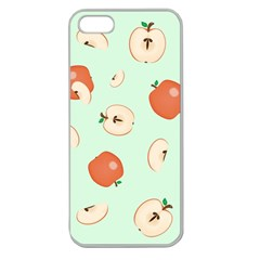 Apple Fruit Background Food Apple Seamless Iphone 5 Case (clear) by Nexatart