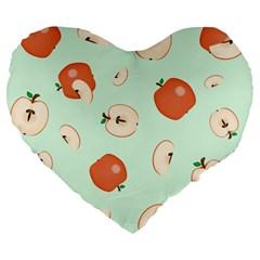 Apple Fruit Background Food Large 19  Premium Heart Shape Cushions by Nexatart