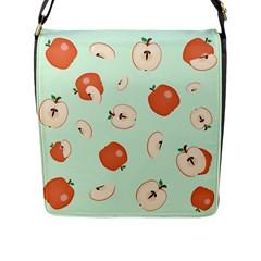 Apple Fruit Background Food Flap Messenger Bag (l)  by Nexatart