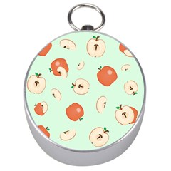Apple Fruit Background Food Silver Compasses