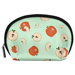 Apple Fruit Background Food Accessory Pouches (large)
