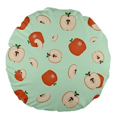Apple Fruit Background Food Large 18  Premium Flano Round Cushions