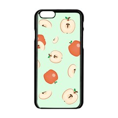 Apple Fruit Background Food Apple Iphone 6/6s Black Enamel Case by Nexatart