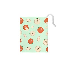 Apple Fruit Background Food Drawstring Pouches (xs)