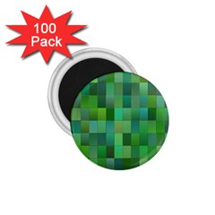 Green Blocks Pattern Backdrop 1 75  Magnets (100 Pack)  by Nexatart