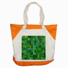 Green Blocks Pattern Backdrop Accent Tote Bag by Nexatart