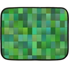 Green Blocks Pattern Backdrop Double Sided Fleece Blanket (mini)  by Nexatart