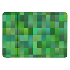Green Blocks Pattern Backdrop Samsung Galaxy Tab 8 9  P7300 Flip Case by Nexatart