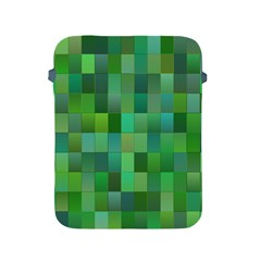 Green Blocks Pattern Backdrop Apple Ipad 2/3/4 Protective Soft Cases by Nexatart