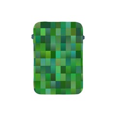 Green Blocks Pattern Backdrop Apple Ipad Mini Protective Soft Cases by Nexatart