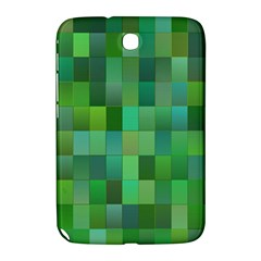 Green Blocks Pattern Backdrop Samsung Galaxy Note 8 0 N5100 Hardshell Case  by Nexatart