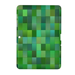 Green Blocks Pattern Backdrop Samsung Galaxy Tab 2 (10 1 ) P5100 Hardshell Case  by Nexatart