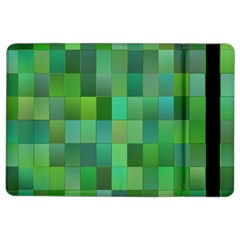 Green Blocks Pattern Backdrop Ipad Air 2 Flip by Nexatart