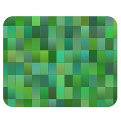 Green Blocks Pattern Backdrop Double Sided Flano Blanket (medium)  by Nexatart