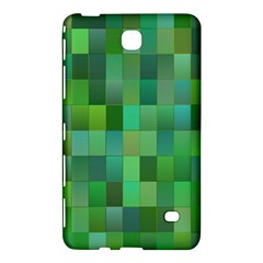 Green Blocks Pattern Backdrop Samsung Galaxy Tab 4 (7 ) Hardshell Case  by Nexatart