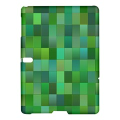 Green Blocks Pattern Backdrop Samsung Galaxy Tab S (10 5 ) Hardshell Case  by Nexatart