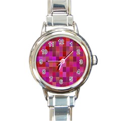 Shapes Abstract Pink Round Italian Charm Watch