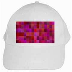 Shapes Abstract Pink White Cap by Nexatart