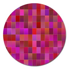 Shapes Abstract Pink Magnet 5  (round) by Nexatart