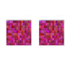 Shapes Abstract Pink Cufflinks (square) by Nexatart