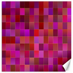 Shapes Abstract Pink Canvas 16  X 16   by Nexatart