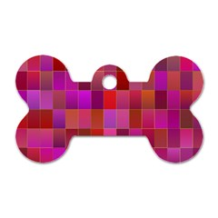 Shapes Abstract Pink Dog Tag Bone (two Sides) by Nexatart
