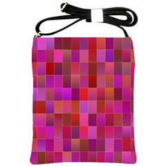Shapes Abstract Pink Shoulder Sling Bags