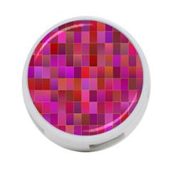 Shapes Abstract Pink 4 Port Usb Hub (one Side) by Nexatart