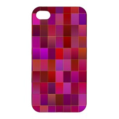 Shapes Abstract Pink Apple Iphone 4/4s Premium Hardshell Case