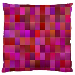 Shapes Abstract Pink Large Cushion Case (two Sides) by Nexatart