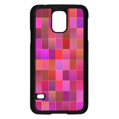 Shapes Abstract Pink Samsung Galaxy S5 Case (black) by Nexatart