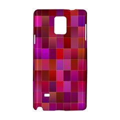Shapes Abstract Pink Samsung Galaxy Note 4 Hardshell Case by Nexatart