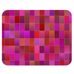 Shapes Abstract Pink Double Sided Flano Blanket (medium)  by Nexatart
