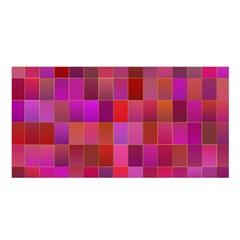 Shapes Abstract Pink Satin Shawl