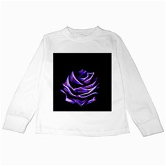 Rose Flower Design Nature Blossom Kids Long Sleeve T Shirts