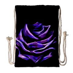 Rose Flower Design Nature Blossom Drawstring Bag (large) by Nexatart