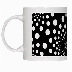 Dot Dots Round Black And White White Mugs by Nexatart