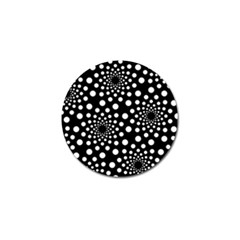 Dot Dots Round Black And White Golf Ball Marker by Nexatart