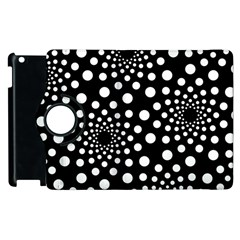 Dot Dots Round Black And White Apple Ipad 2 Flip 360 Case by Nexatart