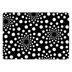 Dot Dots Round Black And White Samsung Galaxy Tab 10 1  P7500 Flip Case by Nexatart