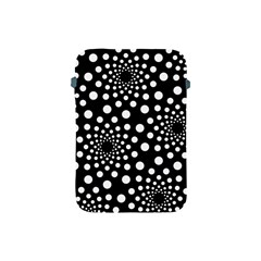 Dot Dots Round Black And White Apple Ipad Mini Protective Soft Cases by Nexatart