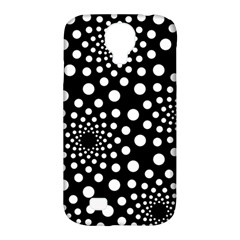 Dot Dots Round Black And White Samsung Galaxy S4 Classic Hardshell Case (pc+silicone)