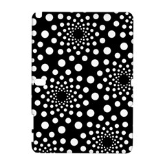Dot Dots Round Black And White Galaxy Note 1
